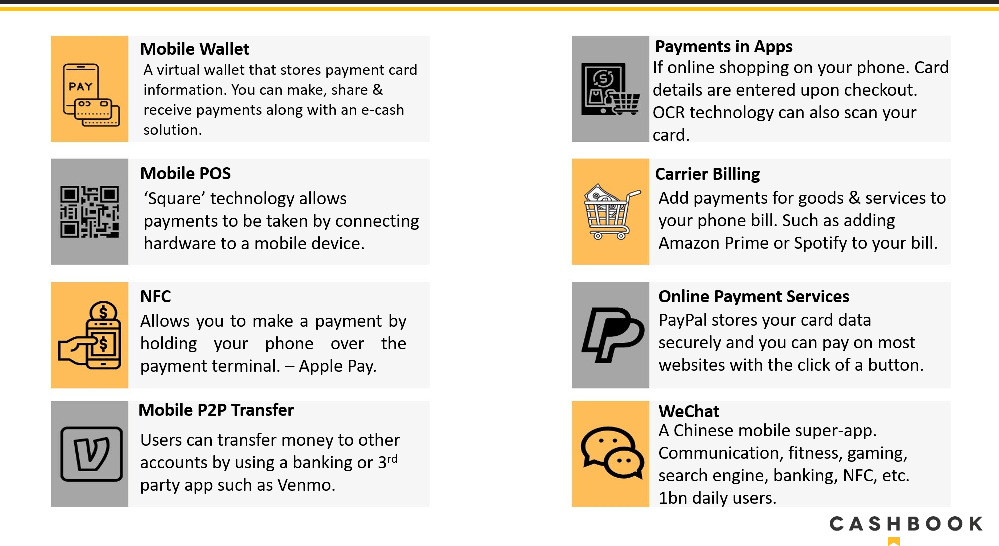 changes in payment trends over the last 10 years  cashbook